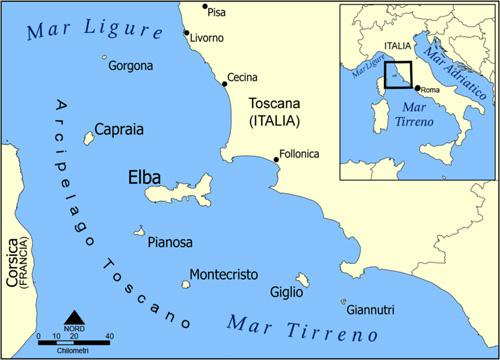 Ostrova Italii Karta