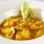 Картофельный суп с шафраном